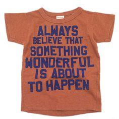 DENIM DUNGAREE(デニム&ダンガリー):テンジク WONDERFUL Tシャツ 7BR茶 の通販【ブランド子供服のミリバール】