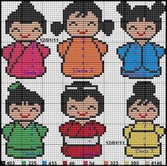 Meu Cantinho: Gráficos Bonequinhas Japonesas