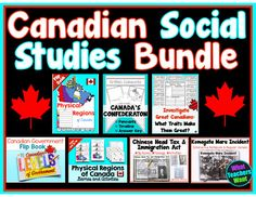 Canadian Social Studies Bundle - My Favourite Products at a Discount! Canadian Social Studies, Teaching Resources, Physics, I Am Awesome, Study, Teacher, Education, My Favorite Things, Fun