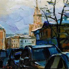 """Moskau"" - Original Fine Art for Sale - © Jurij Frey"