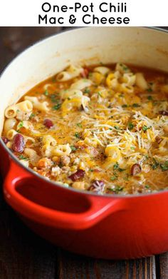 21 Simple One-Pot Pastas; chili Mac and cheese