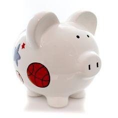 Bank Large Sports Pig Bank