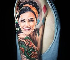 Pin Up model tattoo by Jason Baker