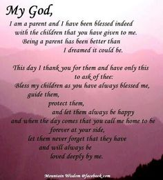 My children are such blessings to me, thank you God!