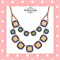 Make any outfit stunning with our 'Perola Enamel Necklace'! Shop now: www.theglocaltrunk.com #theglocaltrunk #tgt #necklace #accessories #costumejewellery #thursdate #fashionjewellery #fashionbag #onlinestore #enameljewelry