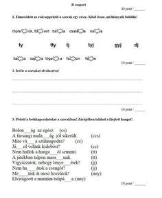 NYELVTAN FELMÉRÉS 2. OSZTÁLY - tanitoikincseim.lapunk.hu Grammar, Sheet Music, Math Equations, Education, Socks, Sock, Onderwijs, Stockings, Learning