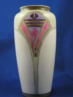 """Rosenthal Bavaria Arts & Crafts Vase (Signed """"Keal""""/c.1907-1940)"""