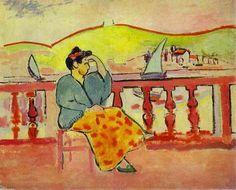 Dama en una terraza