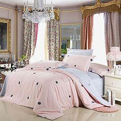 4 peças 100% algodão estilo moderno leão estampado floral conjunto de capa de edredon - BRL R$ 195,91