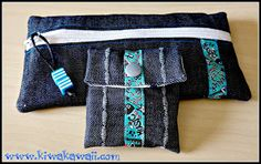 Kiwa Kawaii: Estuche y bolsita con cintas tejidas