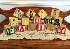 Family Photo Blocks - a fun and nostalgic way to display family photos.