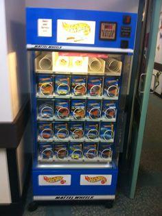 I want a hot wheels vending machine! I think I just may make one!