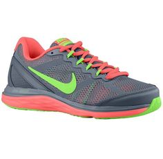 best service 04f19 41bcd Women Nike Dual Fusion Run 3 Running Shoes Blue Graphite Hot Lava Flash Lime