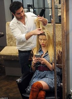 Im A Celebs Georgia Toff Toffolo enjoys pamper session  She spent three wholly-unglamorous weeks languishing in the Im A Celeb jungle.  SoGeorgia Toff Toffolo is undoubtedly loving her return to luxury as she was spotted at the AC Atelier Chelsea hairdressers in Chelsea on Wednesday where she had her blonde locks coiffed into a perfect blow-dry.  The 23-year-old former Made In Chelsea star naturally looked flawless as she wowed in a blue shirt dress with a waist-cinching belt and a camel…