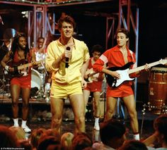 George Michael was wearing yellow Fila shorts when he performed on stage with Andrew Ridgeley in the 1980s