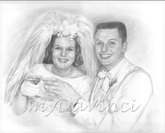 Hand Drawn Pencil Sketch from Photo Beautiful Pencil Sketches, Cool Sketches, Pencil Sketch Portrait, Pencil Drawings, Sketch Paper, Portraits From Photos, Parent Gifts, My Girl, Christmas Ideas
