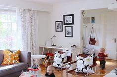 Work space in living room
