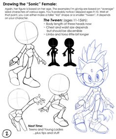 Drawing Sonic Females: 02 Teen by chibi-jen-hen on deviantART