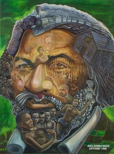 Jerel Rowan Baker and the art of illusion '' I am puzzled therefore I paint. Optical Illusion Paintings, Optical Illusions Pictures, Illusion Pictures, Illusion Drawings, Cool Illusions, Art Optical, Illusion Art, Images D'art, Street Art
