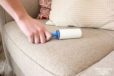Lint rollers are really useful to have around for all sorts of cleaning jobs!
