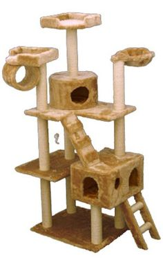Casita 73 Inch Faux Fur Cat Gym
