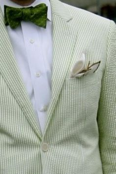 Green Stripes Seersucker Tuxedo Designs Mens Prom Suits Slim Men Suit Jacket Wedding Suits For Men Custom Made Men BlazerJacket+Pant Prom For Guys, Prom Suits For Men, Mens Suits, Mens Attire, Sharp Dressed Man, Well Dressed Men, Cool Tuxedos, Look 2015, Tuxedo For Men