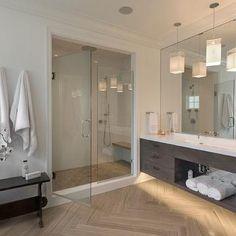 Trough Vanity Sink, Modern, Bathroom, Blue Water Home Builders