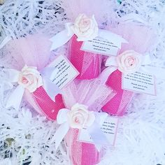 Gorgeous pink scented votive candle wrapped in tulle and tied with a satin bow. Finished off with a poem favour tag and a foam flower embellishment. Baby Shower Favours, Personalized Baby Shower Favors, Candle Favors, Votive Candles, Foam Flower, Favor Tags, Poem, Special Events, Party Favors