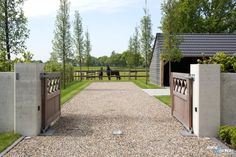 Equestrian Stables, Horse Stables, Horse Farms, Horse Arena, Barn Stalls, Horse Barn Plans, Horse Fencing, Gate Design, The Ranch