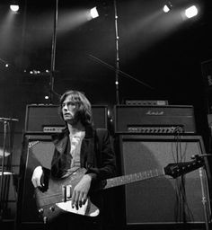 """Eric Clapton – Supersession – London, 1969: """"This was taken at a TV special that Eric participated in and is the only time I have actually photographed him in spite of subsequently shooting two covers for him."""""""