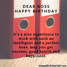 Happy Birthday Boss Quotes, Birthday Wishes For Boss, Wishes For You, Visual Statements, Humor, Be Yourself Quotes, Success, Faith, Forgive And Forget
