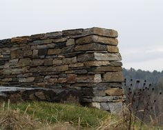 Stone wall on our property