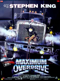 MAXIMUM OVERDRIVE - Stephen King (AC/DC) Original French Movie Poster 47x63""