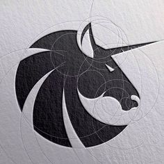 Logo Design Inspiration Discover Awesome and Creative Branding Design Ideas by Goran Jugovic Creative Branding Design Ideas Beste Logos, Logo Animal, Unicorn Logo, Unicorn Art, Graphisches Design, Design Ideas, Design Color, Creative Design, Horse Logo