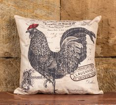Look what I found on Rooster Pillow Farmhouse Style Decorating, Farmhouse Chic, French Country Decorating, Country Farmhouse, Rooster Kitchen, Rooster Decor, Chickens And Roosters, Hens And Chicks, Textiles