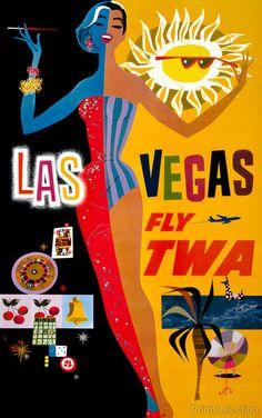 PrintCollection - Las Vegas, Fly TWA