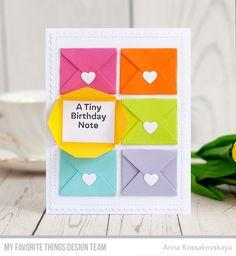 Sending Birthday Wishes Card Kit, Blueprints 27 Die-namics - Anna Kossakovskaya #mftstamps