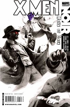 X-Men Noir: Mark of Cain # 1 (Variant) by Dennis Calero Marvel Comic Books, Marvel Comics, Cyclops X Men, Mark Of Cain, American Comics, Comic Book Covers, Xmen, Sci Fi, Superhero