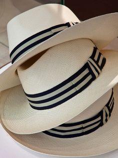 Gentlemen:  #Gentlemen's #fashion ~ Panama hats.