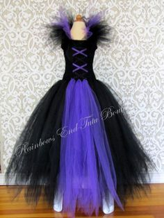 Maleficent inspired Tutu Dress size by Rainbows End Tutu Boutique (whererainbowsend1)