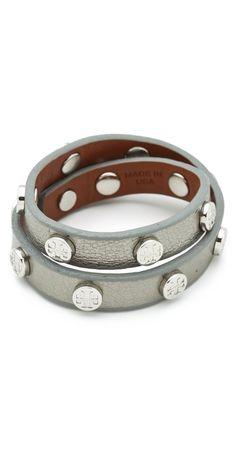 Tory Burch Double Wrap Logo Bracelet - Shopbop