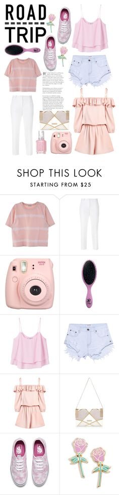 """Think Pink"" by lialicious ❤ liked on Polyvore featuring Dolce&Gabbana, The Wet Brush, MANGO, One Teaspoon, River Island, Vans, Big Bud Press, Essie, cute and Pink"