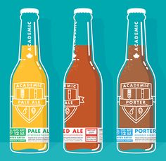Designed for a Canadian home-brewer, the Academic Brewery brand combines the detailed, scientific approach of the brewery with its humorous, lighthearted character. While paying tribute to the brew...
