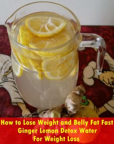 How to Lose Weight and Belly Fat Fast - Ginger Lemon Detox Water For Weight Loss | Veggie Team