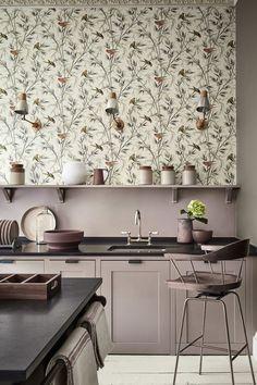 Beautiful Bird Wallpaper Design By Little Greene Kitchen Backsplash Laundry