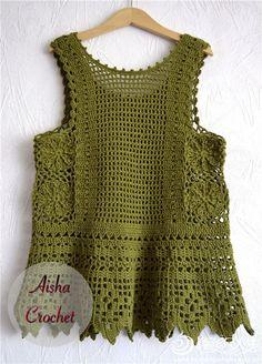 Fabulous Crochet a Little Black Crochet Dress Ideas. Georgeous Crochet a Little Black Crochet Dress Ideas. Crochet Bodycon Dresses, Black Crochet Dress, Crochet Jacket, Crochet Blouse, Mode Crochet, Knit Or Crochet, Filet Crochet, Crochet Tops, Crochet Pattern