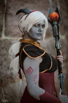 Qunari cosplay from Dragon Age Inquisition by Chrix Design. Photo: Nils Katla Photography