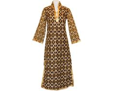 Moroccan Metallic Caftan Richly Embroidered Vintage by PearlModern, $395.00