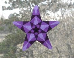 Amethyst Waldorf Window Star with 5 Points by harvestmoonbyhand, $9.00