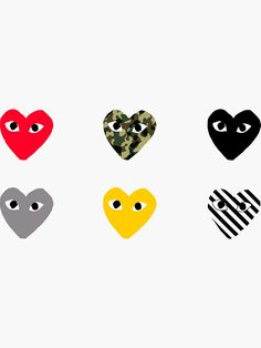 'CDG Pattern Pack' Sticker by zachlotter Dope Wallpaper Iphone, Pop Art Wallpaper, Dope Wallpapers, Locked Wallpaper, Aesthetic Iphone Wallpaper, Aesthetic Wallpapers, Wallpaper Backgrounds, Collage Background, Photo Wall Collage